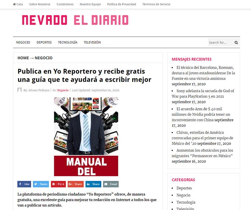 Nevado el Diario