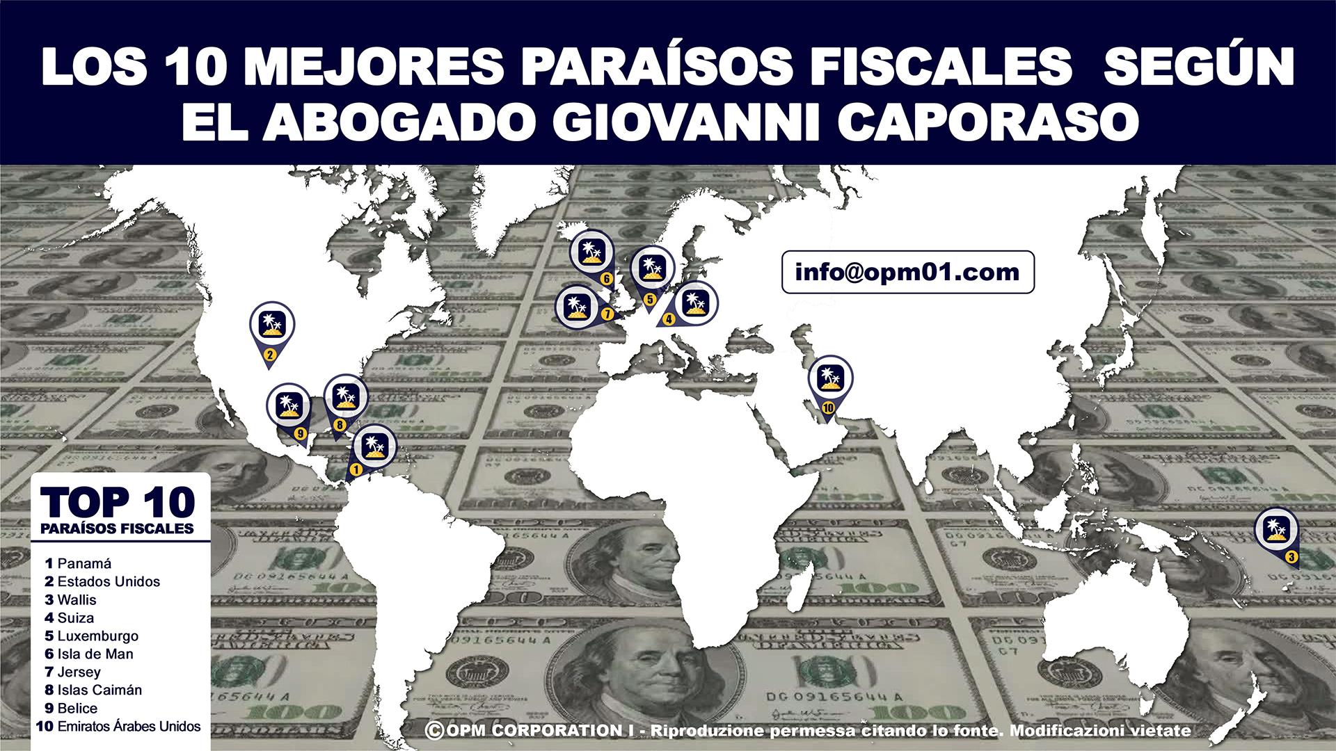 10 mejores paraísos fiscales