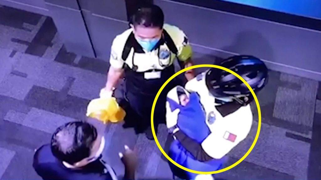 Captado en video: abandonan a un bebé recién nacido