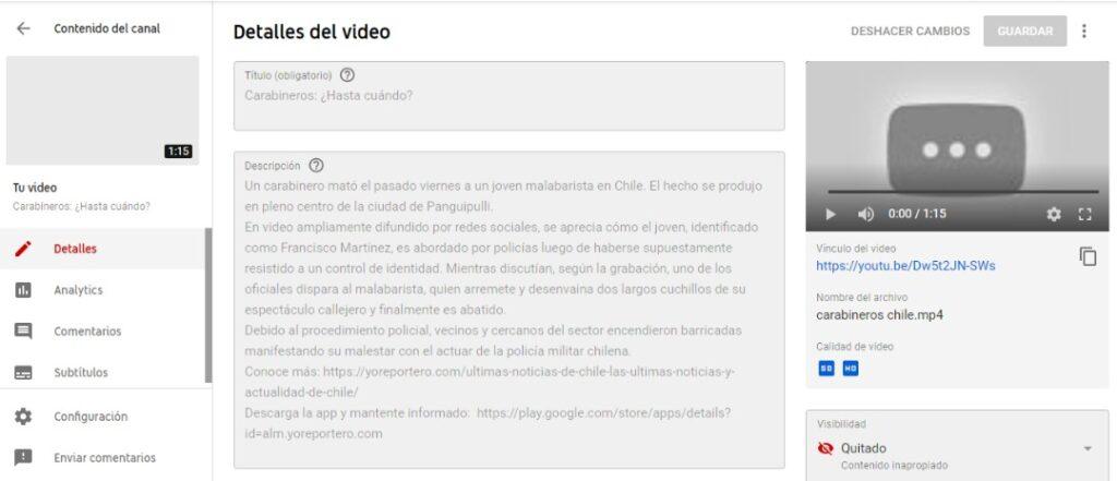 En las noticias de Chile destaca que un carabinero asesinó a un malabarista en plena calle en Chile