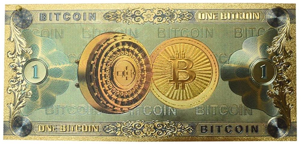 proyecto para crear un billete físico para el BTC, la mayor criptomoneda