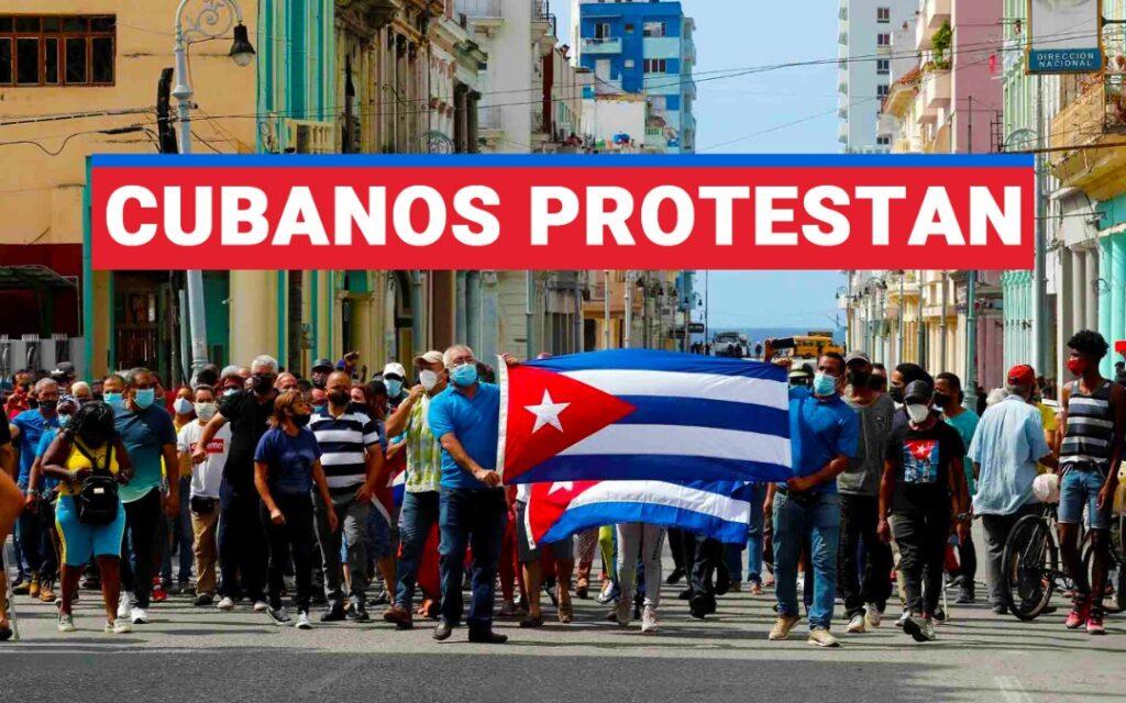 Cubanos protestan en todo el país por falta de alimentos, medicinas y aumento de apagones