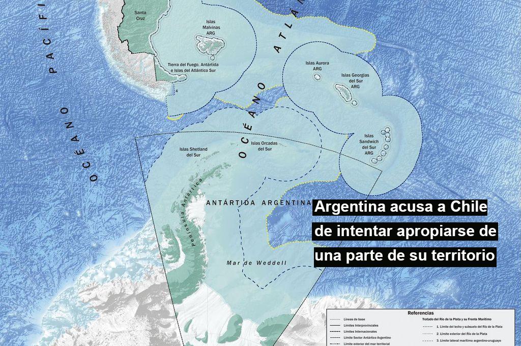 El Gobierno argentino acusa a Chile de intentar apropiarse de una parte de su territorio