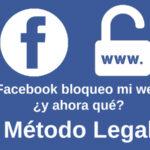 ¿Cómo desbloquear la URL de tu sitio web en Facebook?